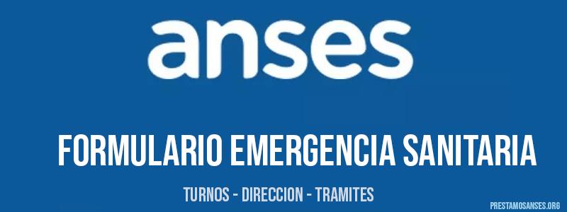 Formulario Anses emergencia sanitaria